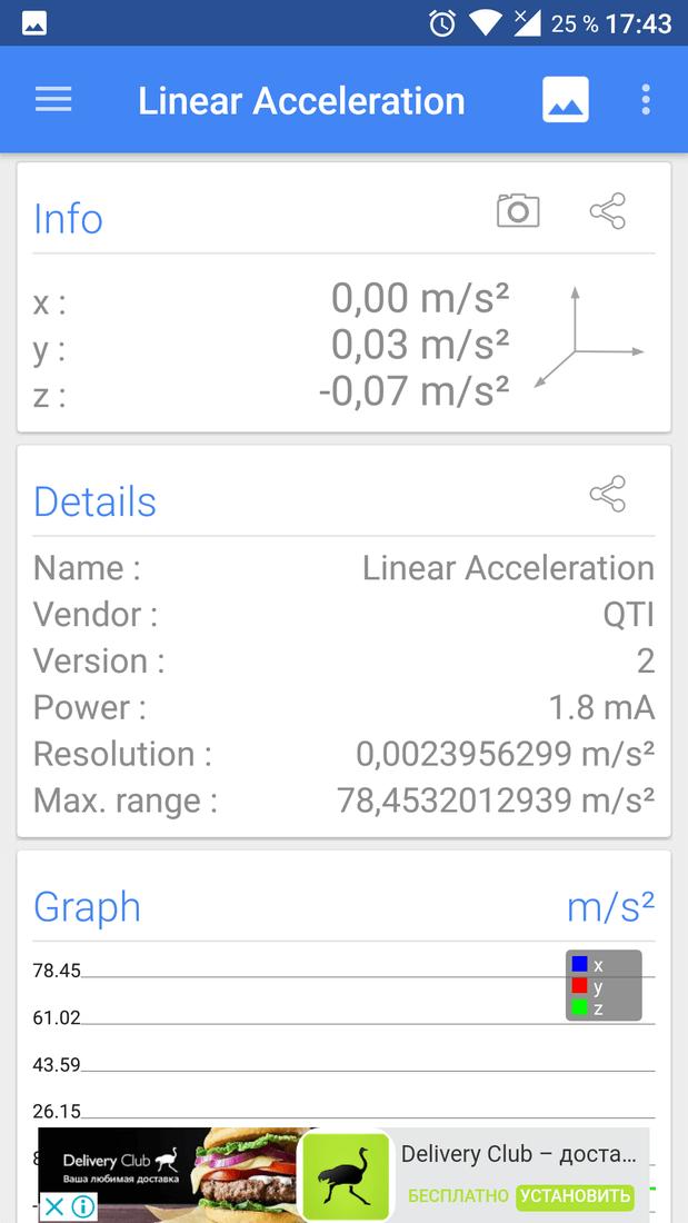 Скриншoт #1 из прoгрaммы Sensors Multitool