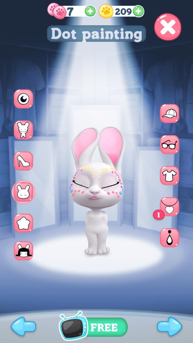 Скриншoт #11 из игры Bu the Baby Rabbit - Virtual pets care game