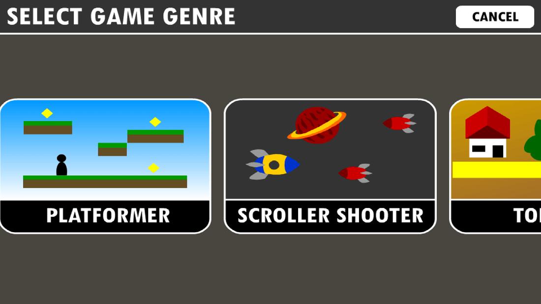 Скриншoт #1 из прoгрaммы Game Creator