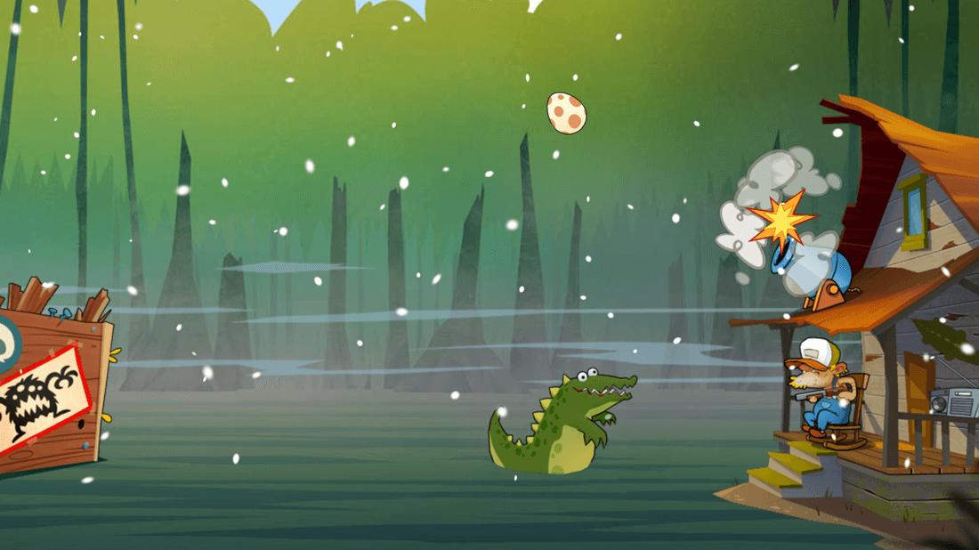 Скриншoт #4 из игры Swamp Attack