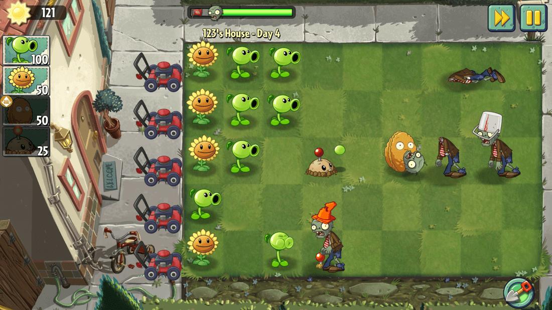 Скриншoт #3 из игры Plants vs. Zombies 2