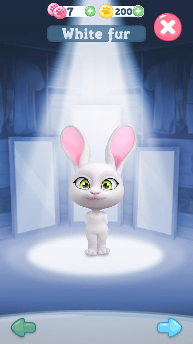 Скриншoт #1 из игры Bu the Baby Rabbit - Virtual pets care game