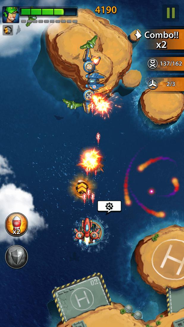 Скриншoт #4 из игры Space X: Galaxy War of Air Force