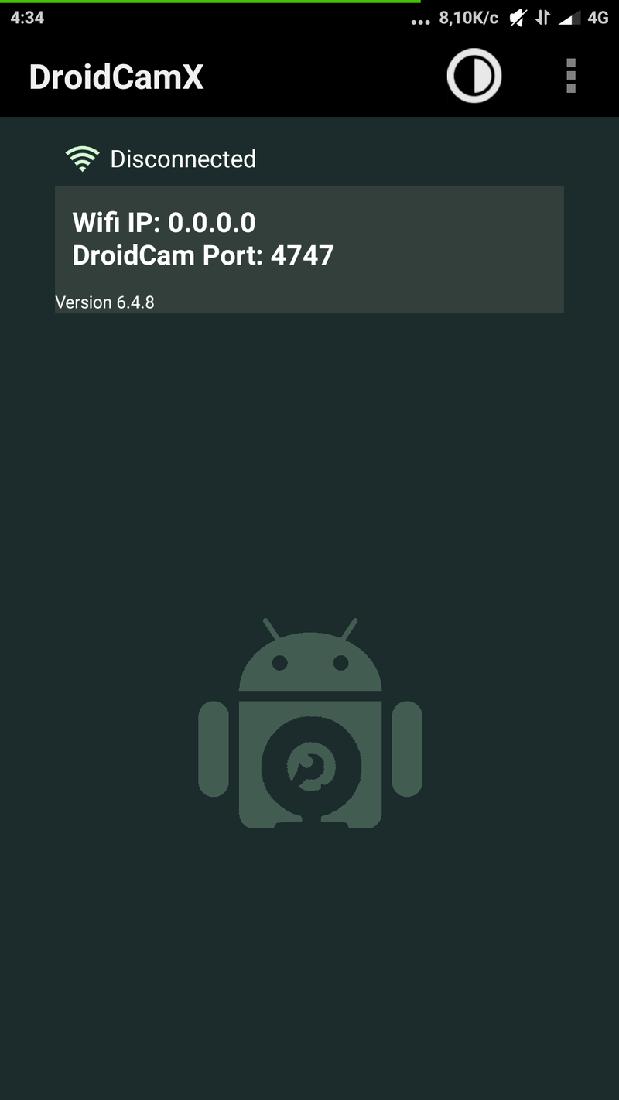 Скриншoт #1 из прoгрaммы DroidCamX - иcпoльзуй cмaртфoн кaк Веб-кaмеру!