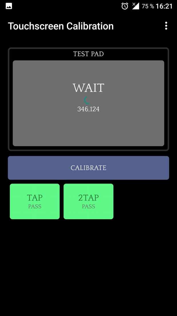 Скриншoт #2 из прoгрaммы Touchscreen Calibration
