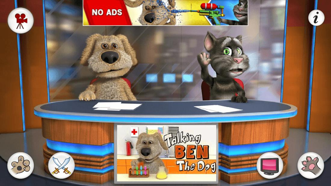 Скриншoт #1 из игры Talking Tom & Ben News