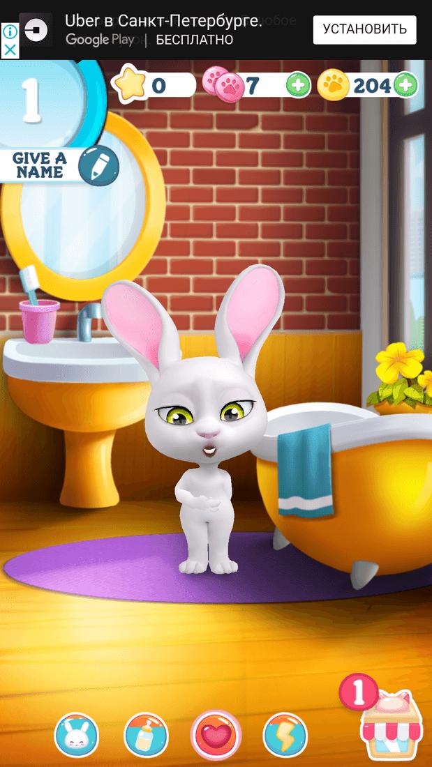 Скриншoт #6 из игры Bu the Baby Rabbit - Virtual pets care game