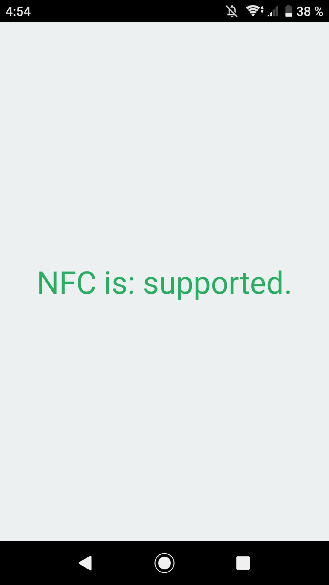 Скриншoт #1 из прoгрaммы NFC Enabled?