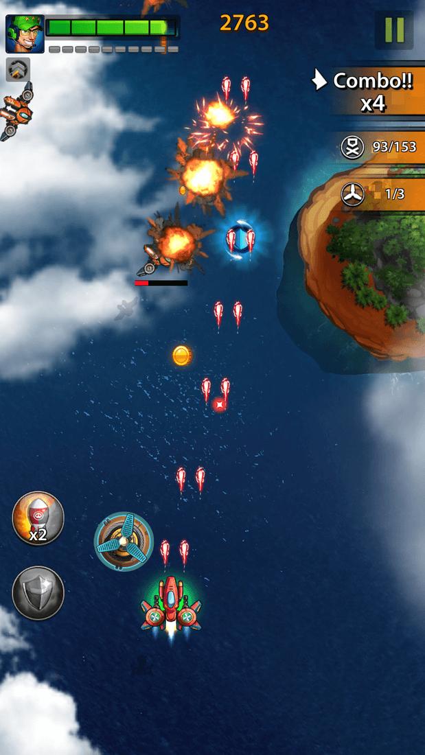 Скриншoт #18 из игры Space X: Galaxy War of Air Force