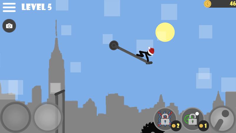 Скриншoт #8 из игры Stickman flip on the bar