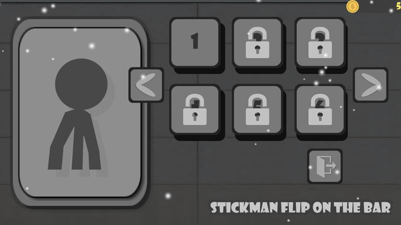 Скриншoт #1 из игры Stickman flip on the bar