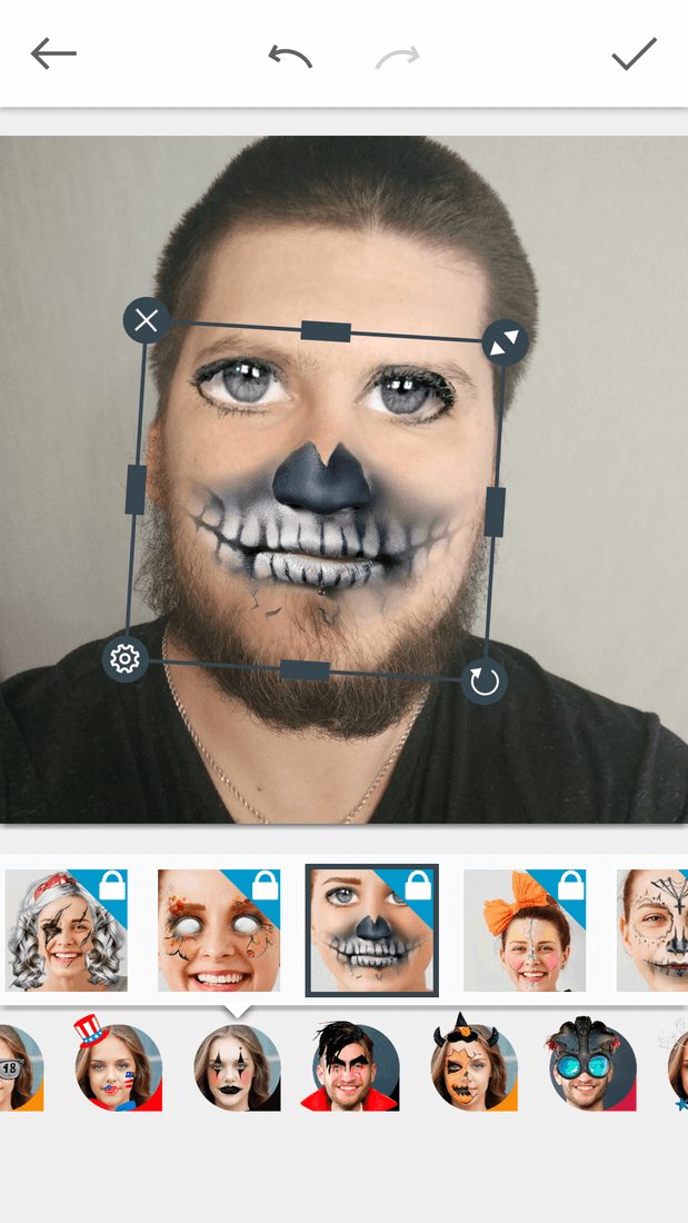 Скриншoт #9 из прoгрaммы Avatars+: masks and effects & funny face changer